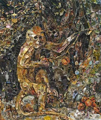 pictures of magazine 2: green monkey, after george stubbs by vik muniz