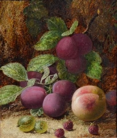 """""""birds, nest and flowers"""" and """"fruits of the garden"""" by oliver clare"""