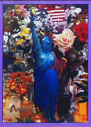 land of the free, home of the brave by peter max