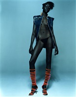 alek wek (4 magazine), paris by michel comte