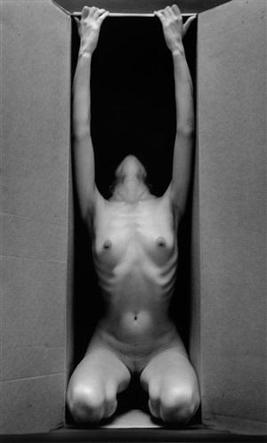 in the box, vertical by ruth bernhard