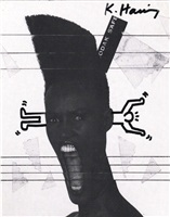 untitled (grace jones/paradise garage) by keith haring
