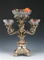 antique english sterling silver epergne