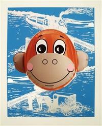 monkey train (blue) by jeff koons