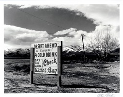 sign in road leading to great salt lake desert by arthur rothstein