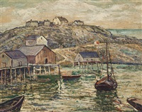 peggy's cove, nova scotia by ernest lawson