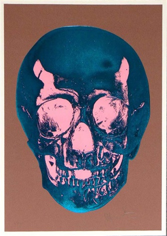 till death do us part milk chocolate brown true blue bubblegum pink skull by damien hirst