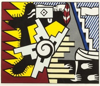 american indian theme ii by roy lichtenstein