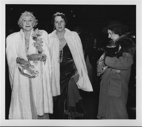 the critic (fashionable people/opening night at the metropolitan opera) by weegee