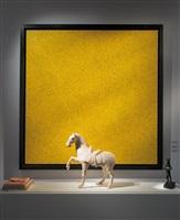 vue de l'exposition : yayoi kusama et cheval tang