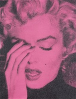 marilyn crying – alice rose & black by russell young