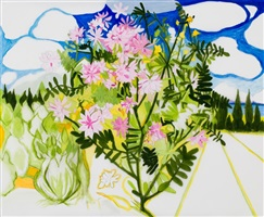 crown vetch drawing by john arden knight