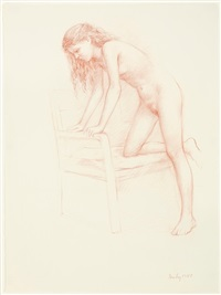 untitled (female and chair) by william h. bailey