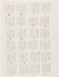 drawing series (sperone) by sol lewitt