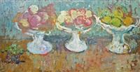 fruit bowls (trois compotiers de fruits) by louis valtat