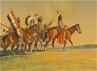 crossing the plains (untitled) by maynard dixon