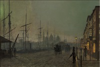 humber dockside by john atkinson grimshaw