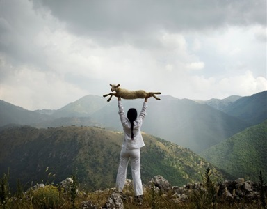 holding the lamb by marina abramović