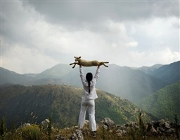 holding the lamb by marina abramovic