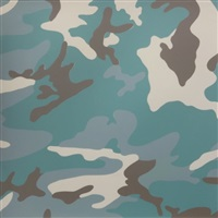 camouflage tp (teal & brown) by andy warhol
