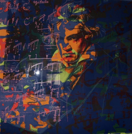 beethoven camouflage tp by andy warhol