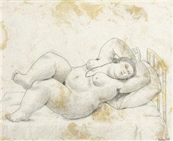 reclining nude by fernando botero