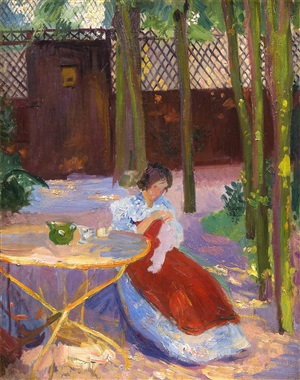 in the garden by hippolyte petitjean