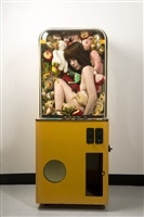 girl in toy claw crane machine by chien-yang wang