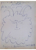 head of a happy faune / tete de faune heureux by pablo picasso