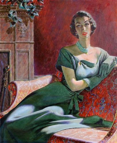 portrait of a woman by edwin georgi