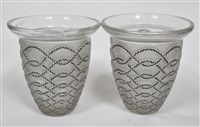 pair of guirlands vases by rené lalique