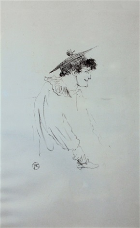 petit fille anglaise miss dolly au star by henri de toulouse lautrec