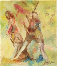 ohne titel, 2 figuren by pierre boffin