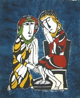 jesus washes peter's feet by sadao watanabe