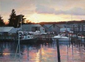 marina at dusk by nadia klionsky