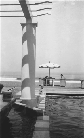 renée at the pool of the chambre d'amour, biarritz by jacques henri lartigue