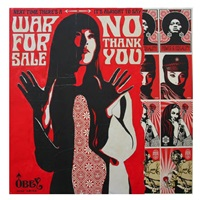 war for sale (mural panels) by shepard fairey