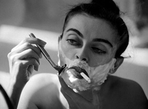 shaving smoking by guy le baube