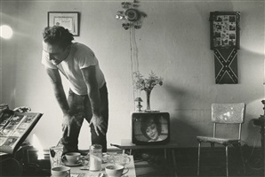 corky at home, chicago, from the bikeriders by danny lyon