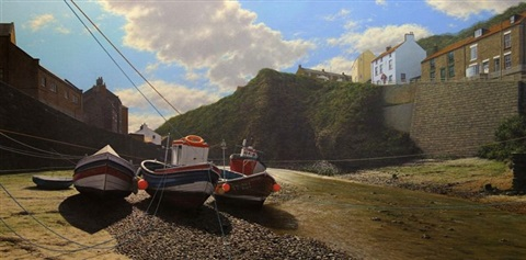 beckside, staithes by steve whitehead
