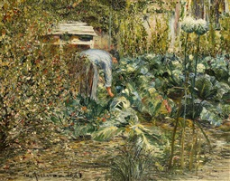 dans le jardin by charles angrand