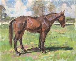 horse standing by ben fenske