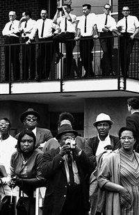 entering montgomery, selma march by steve schapiro