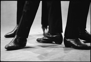 beatles' boots, ed sullivan theater by bill eppridge