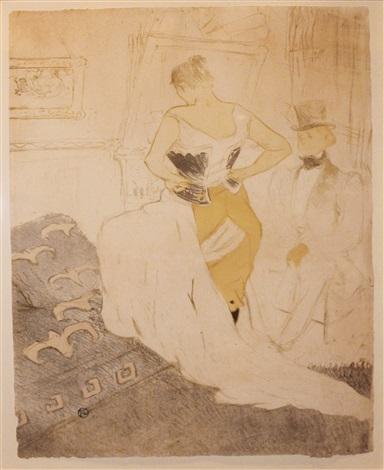 femme en corset conquête de passage by henri de toulouse lautrec