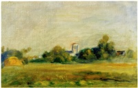 clocher d'essoyes by pierre-auguste renoir