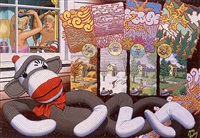 the four seasons as seen through the eyes of jessica's sock monkey by robert williams