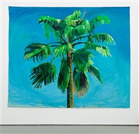 sky and palm tree head #5 by yutaka sone