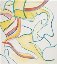 quatre lithographies: one print by willem de kooning