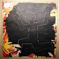 untitled (man carrying a radio active weapon) by keith haring